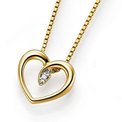 Gullsmykke i 14 kt med en diamant (liten)-6482992