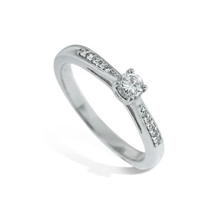 Diamantring i hvitt gull med 0,21 ct W-Si -11100511
