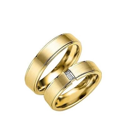 Gifteringer i gult gull 9 kt, 5.5 mm. GERSTNER - 1203150