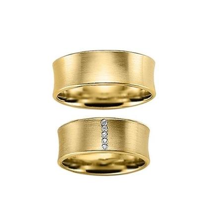 Gifteringer i gult gull 9 kt, 8 mm. GERSTNER - 1202630