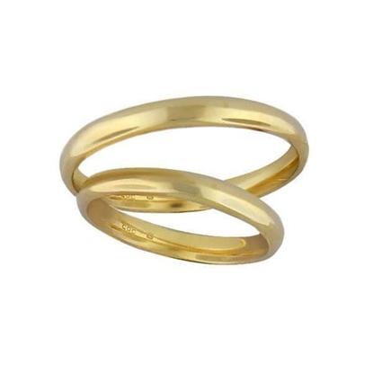 Gifteringer gull 14kt,3 mm. OREST-1430