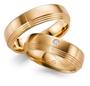 Gifteringer i rosé gull 9 kt, 6 mm. GERSTNER - 128562