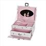 Smykkeskrin med ballerina, hvitt/rosa - 34065-1