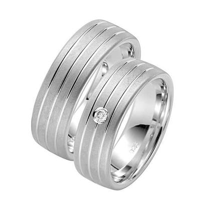 Forlovelsesringer i sølv rhodinert, 7 mm. RAUSCHMAYER -107042