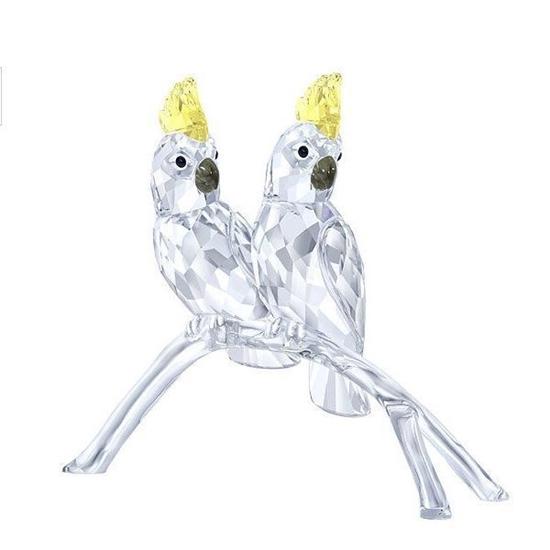 Swarovski figurer. Cockatoos