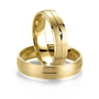 Gifteringer i gult gull 14 kt, 5 mm. Smart line - 4807017