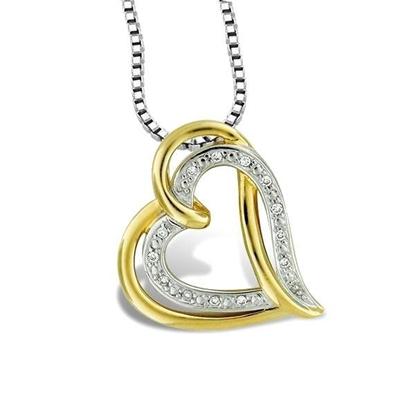 Diamantsmykke i gull med 0,05 ct W-Si - 111232497