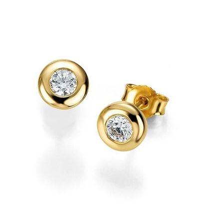 Diamant øredobber med 2/0,25 ct W-Si -105268