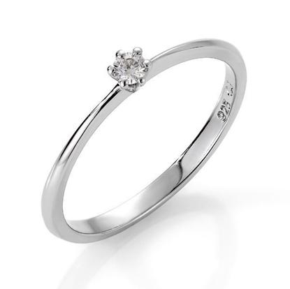 Diamantring i sølv med 0,06 ct W-Si-51114