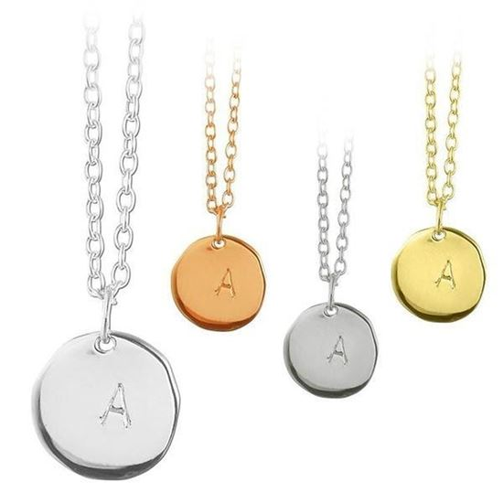 Smykke navneplate i sølv - 365365