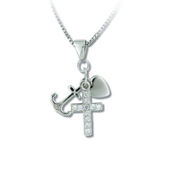 Smykke i sølv med zirkonia - 280115