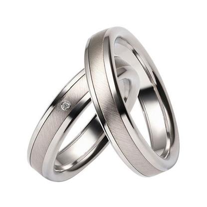 Gifteringer i stål & palladium, 5 mm. RAUSCHMAYER - 160049