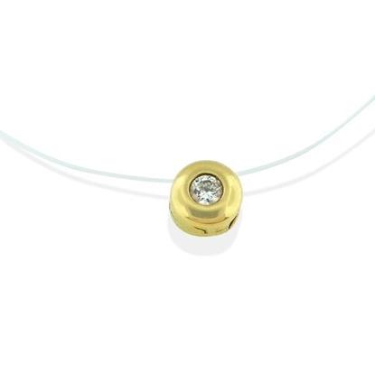 Diamantsmykke i gull med 0,05 ct -3103931