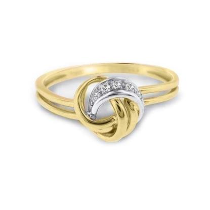 Diamantring gull med 0,015 W-P-63040655