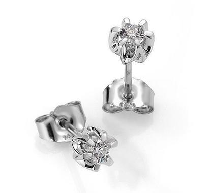 Sitara diamant øredobber med 2/0,19 ct W-Si-422119