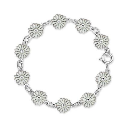 Armbånd i sølv - Hvite prestekrager