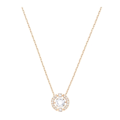 Swarovski collier. Sparkling Dance Round Necklace, White-5272364