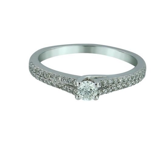 Diamantring i hvitt gull med 0,26 ct W-Si-10021581