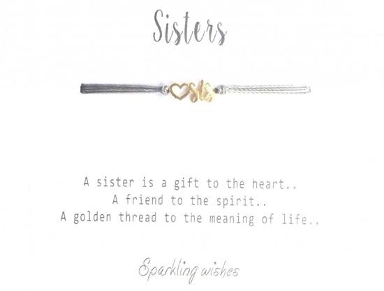 Sisters armbånd i forgylt sølv. JOYTAG - 752