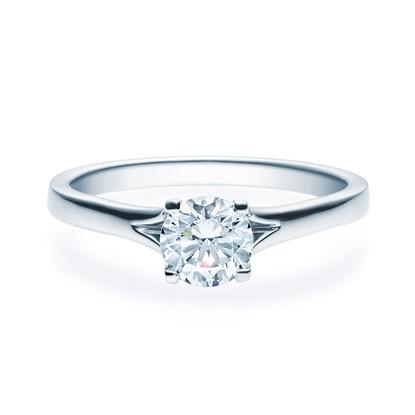 Enstens diamantring med 0,70 ct i 14kt gull. TW-Si. -18020070