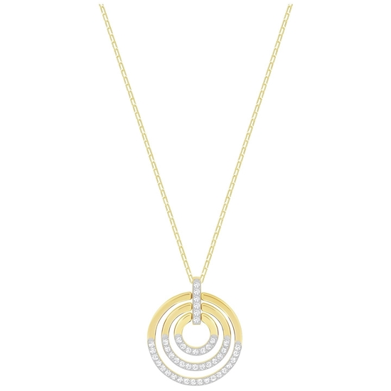 Swarovski smykke Circle, Medium, Gold plating - 5349192