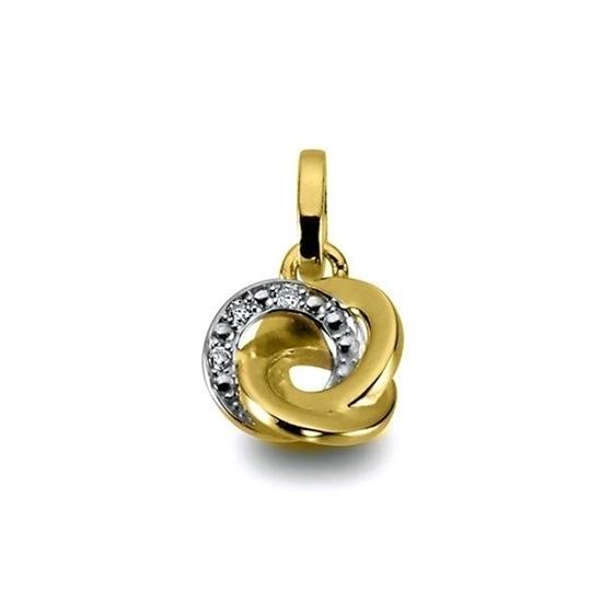 Diamantsmykke i gull med 0,010 ct W-P1 - 310319