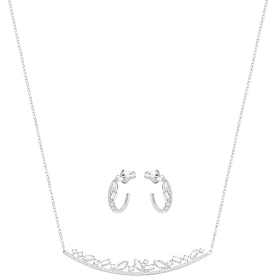 Swarovski smykkesett. Henrietta, Rhodium plating - 5297294