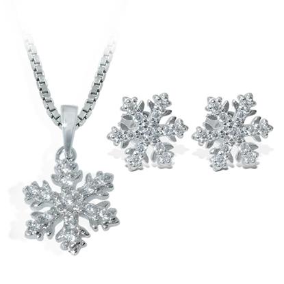 Smykkesett i sølv med zirkonia - COC0055200