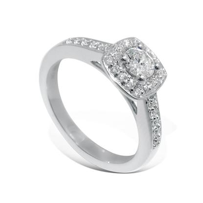 Diamantring Azur med 0,39 ct W-Si - ABR00902