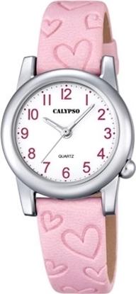 Calypso barneur 5 atm rosa rem,hvit skive - K5709-2