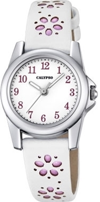 Calypso barneur 5 atm hvit rem/skive - K5712-2
