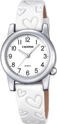 Calypso barneur 5 atm hvit rem/skive - K5709-1