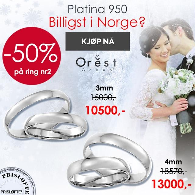 gifteringer i platina