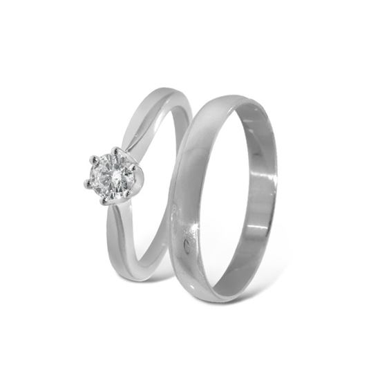 Giftering & diamantring gull 14 kt, - COC00986_2303030