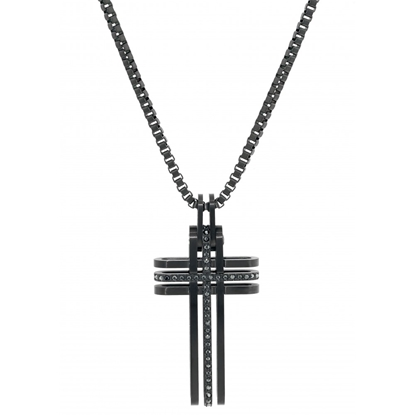 Swarovski herre smykke Bengal Cross Black - 5070473