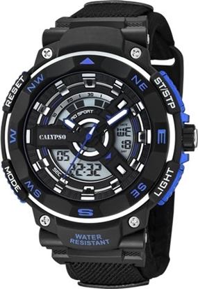 Calypso ana/digi,100 m, rem, sort/blå - K5673-5