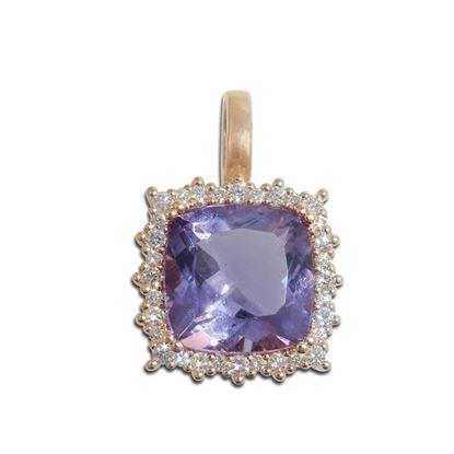 Diamantsmykke med 0,20 ct TW-VS & ametyst-BUR271512