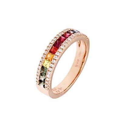 Diamantring i rosé gull 18 kt med diam 0,24ct -RFX1660SM-01
