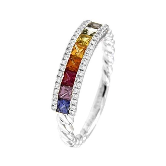 Rubin diamantring i hv. gull 18 kt med diam 0,09ct. GOVONI - RF13450SM-01