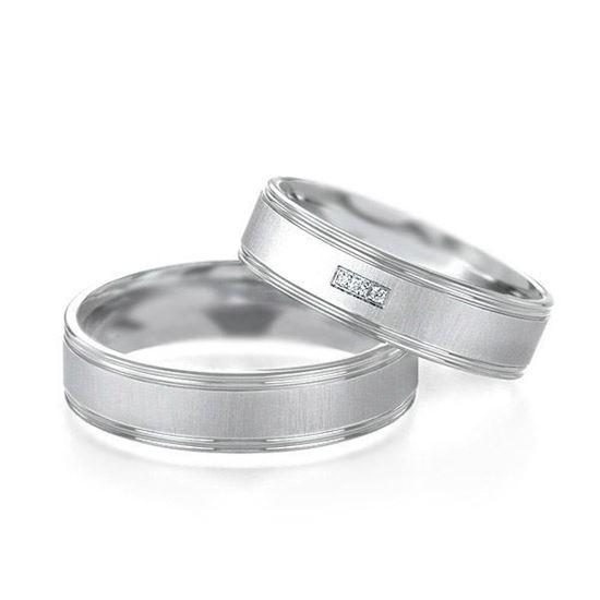 Gifteringer fra Breuning i platina 950, 5.5 mm. MOONLIGHT - 14807151