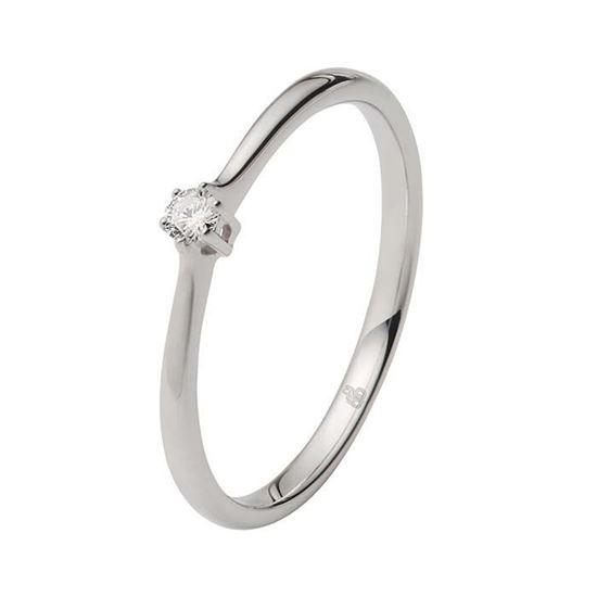 Enstens diamantring Ja! med 0,05 ct i 9kt gull. TW-Si. -5100012