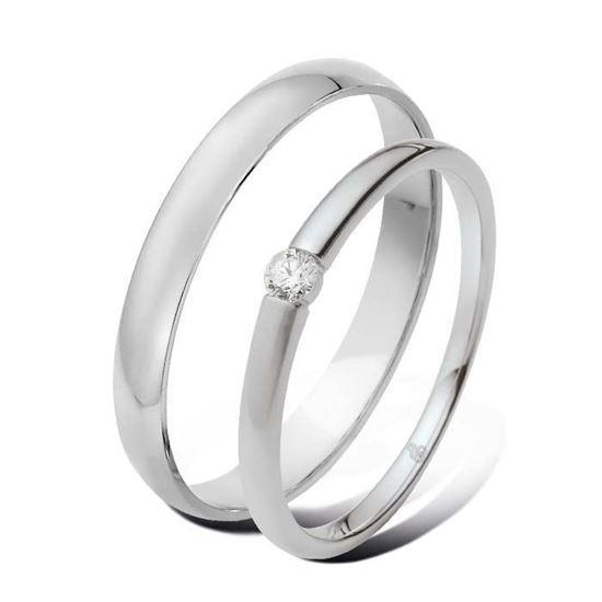 Giftering & diamantring 0,06 ct TW-Si i hvitt gull 9 -5100027-1330