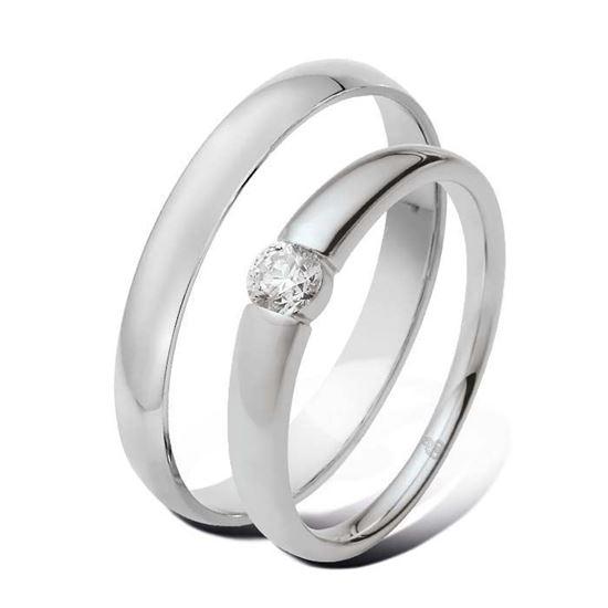 Giftering & diamantring 0,21 ct TW-Si i hvitt gull -5100030-1330