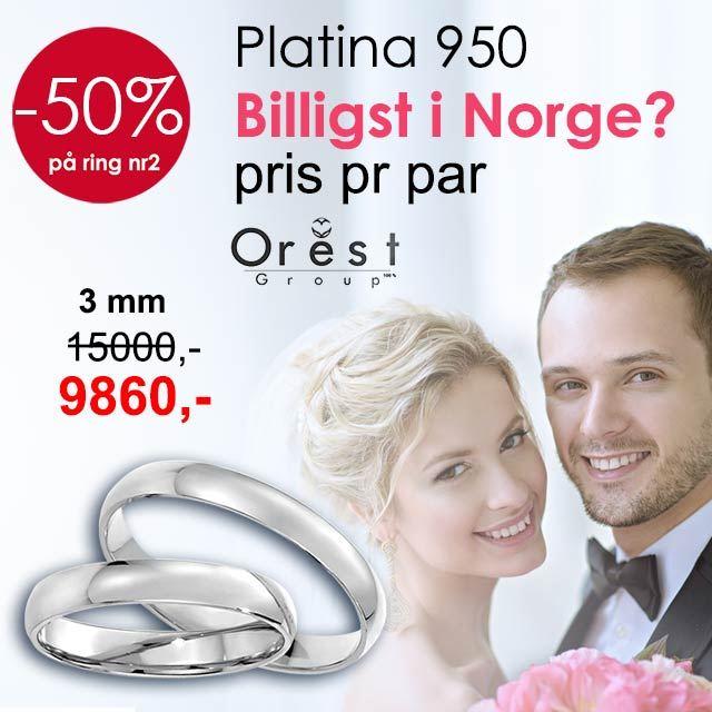 gifteringer i platina fra orest