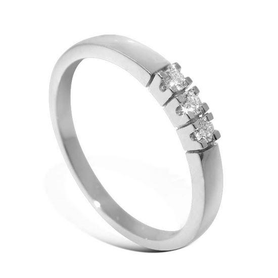 Diamantring Iselin med 3x0,03 ct TW-Si-8503030