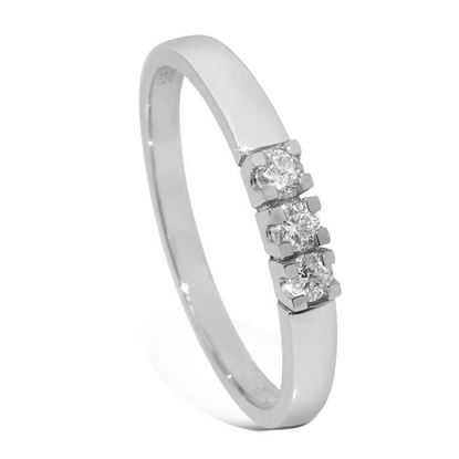 Diamantring Iselin med 3x0,05 ct TW-Si-8503050