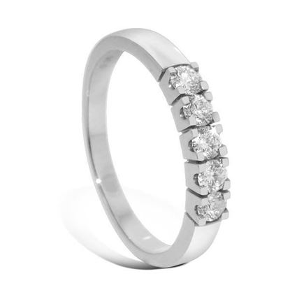 Diamantring Iselin med 5x0,07 ct TW-Si-8505070