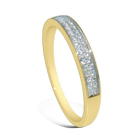 Diamantring i gult gull med 0,08 ct W-Si-3307008