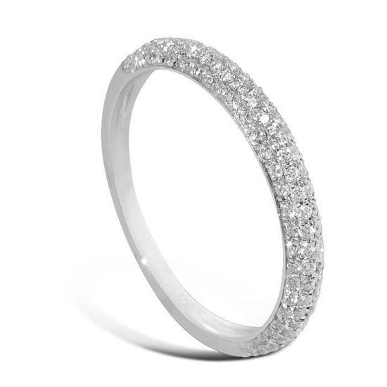 Diamantring i hvitt gull med 0,35 ct W-Si - 8790035