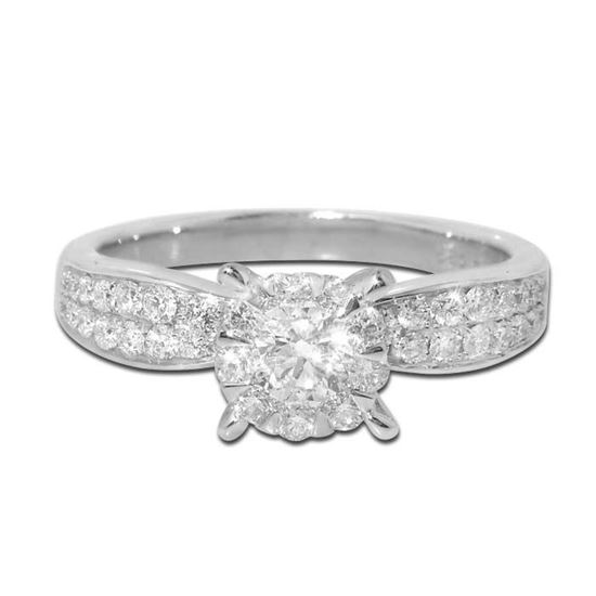 Diamantring i hvitt gull med 0,65 ct TW-Si - COC00970